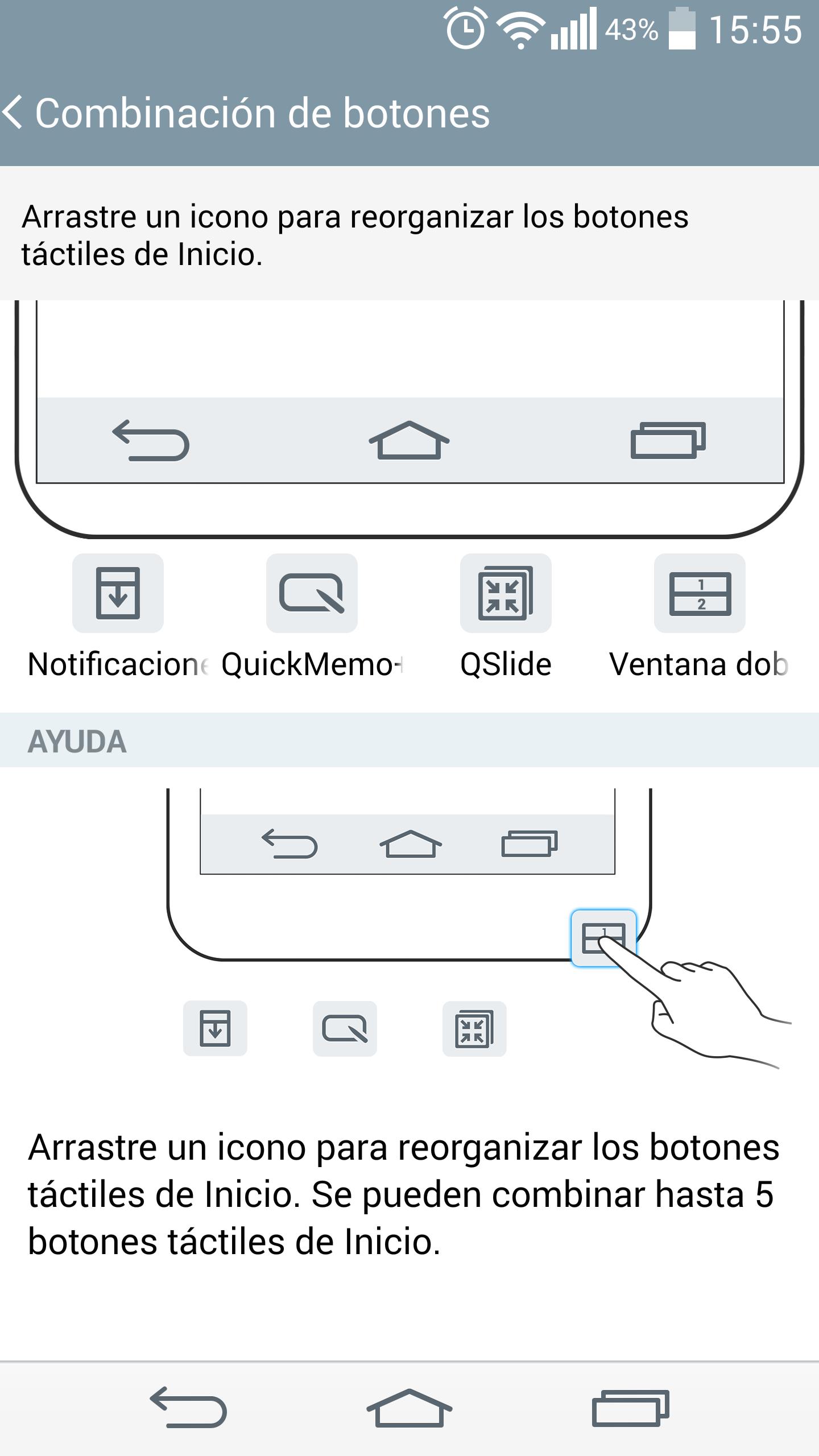 LG G3 interfaz