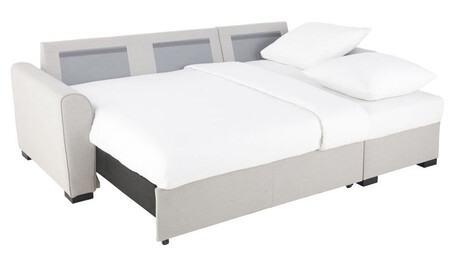 Sofa Esquinero Convertible De 3 4 Plazas De Tela Gris 1000 0 31 141440 6