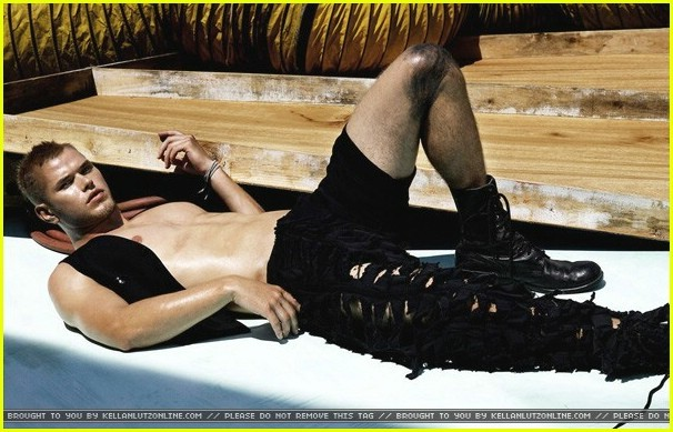Kellan Lutz en Flaunt Magazine