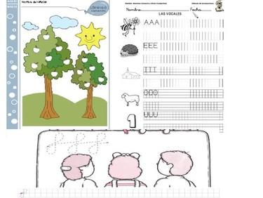 Fichas de actividades para niños: cinco años