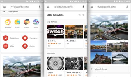 """Google Maps está probando una nueva interfaz en la sección """"Explorar cerca"""""""