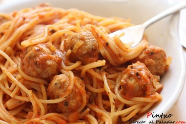 Mi receta de espaguetis con albóndigas