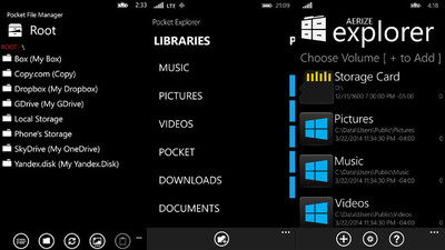 Tres exploradores de archivos para Windows Phone 8.1