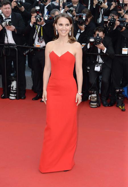Natalie Portman Vestido Rojo Cannes 2015 2