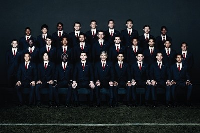 Los jugadores del Arsenal visten de Lanvin (de manera oficial)