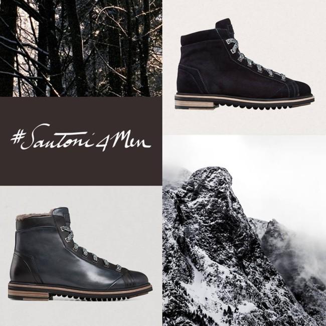 Tradición. Actitud moderna. Pisada fuerte: nuevas botas de montaña Santoni