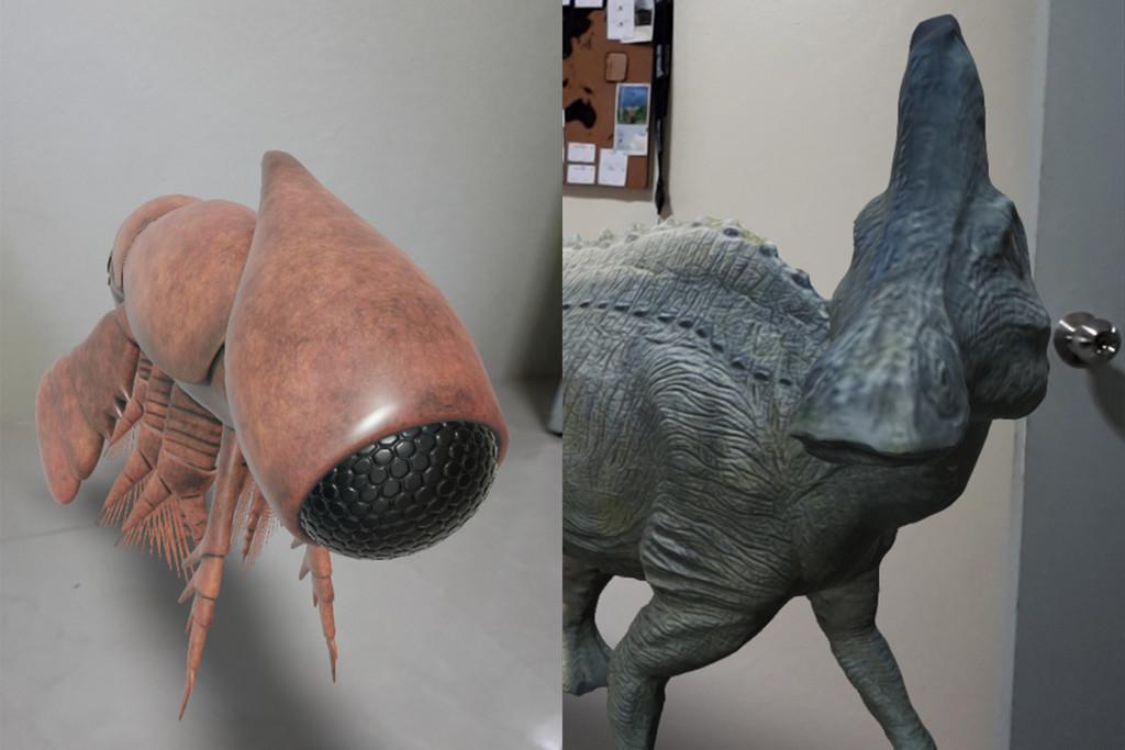 Google añade animales prehistóricos en 3D con materialidad aumentada, en 'Arts and Culture'