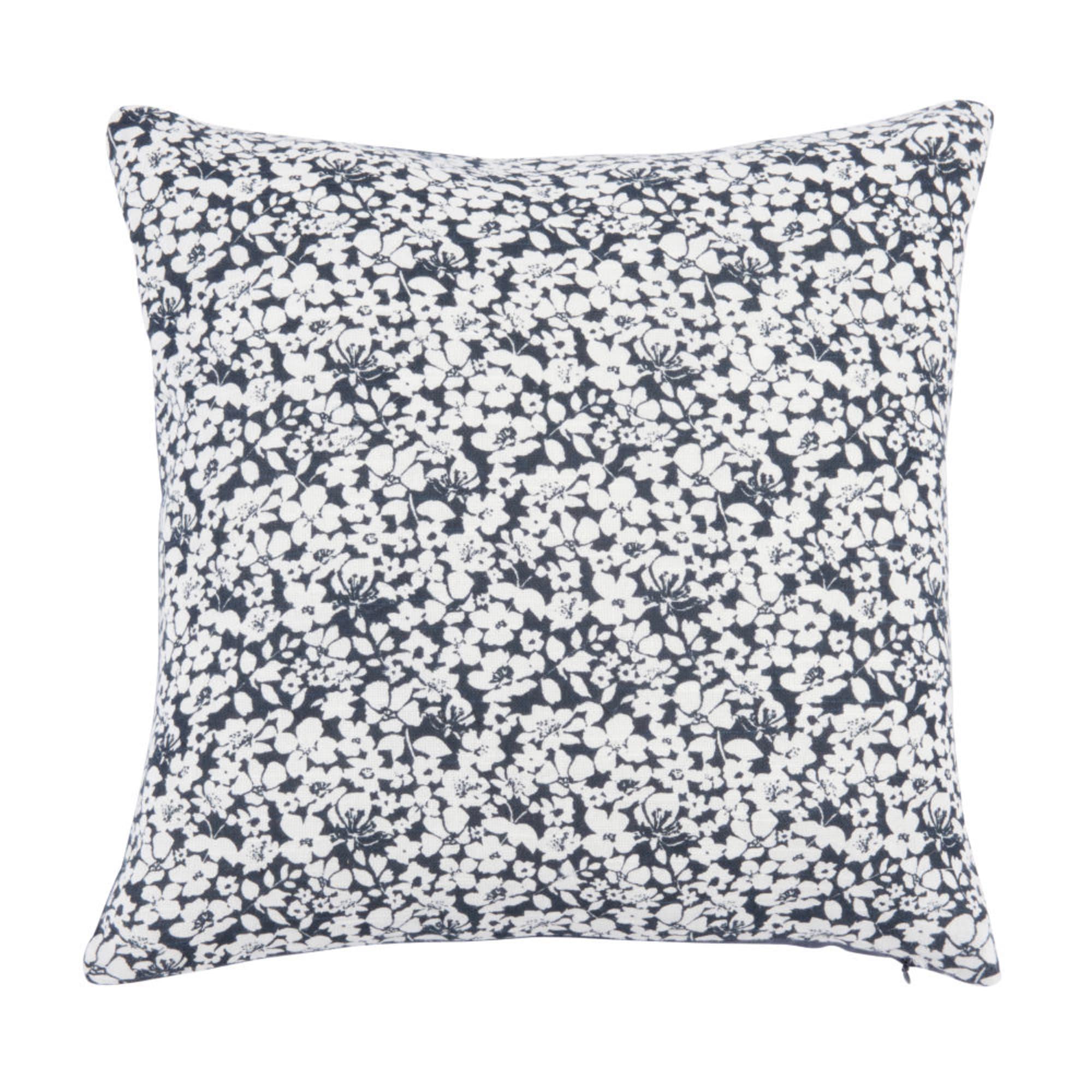 Morena. Funda de cojín de algodón con motivos de flores 40x40