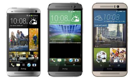 HTC One M7, M8 y M9