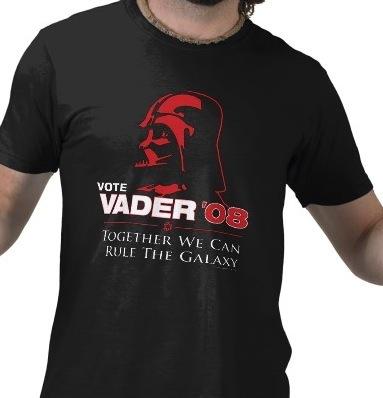 Camiseta Vota a Vader 2008