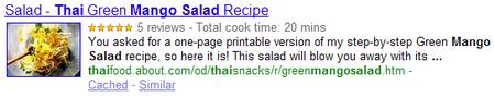 microdatos recetas google