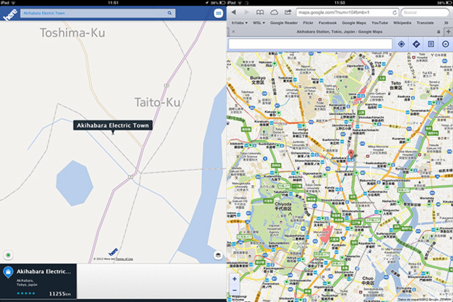 HERE Maps vs Google Maps