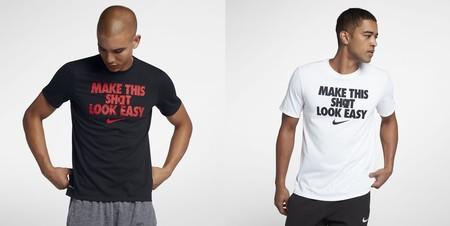 Por 17,47 euros en Nike tenemos la  camiseta de baloncesto para hombre Nike Dri-FIT en blanco o en negro