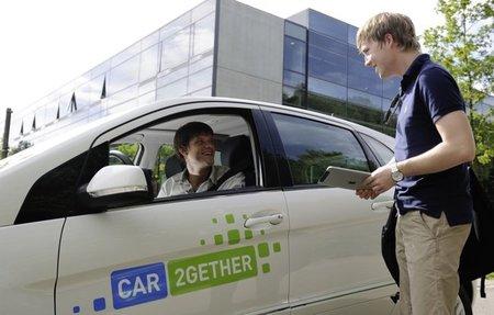 """Daimler car2gether: """"ride sharing"""""""