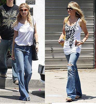 Jeans acampanados ¿Nicole Richie o Cameron Díaz?