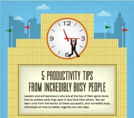Cinco consejos para mejorar la productividad de personas altamente ocupadas