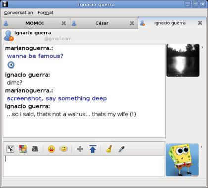emesene, un cliente multiplataforma para MSN Messenger