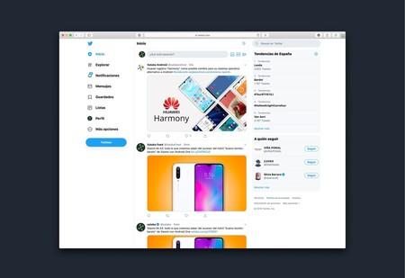 Diseño de Twitter desde 2019.