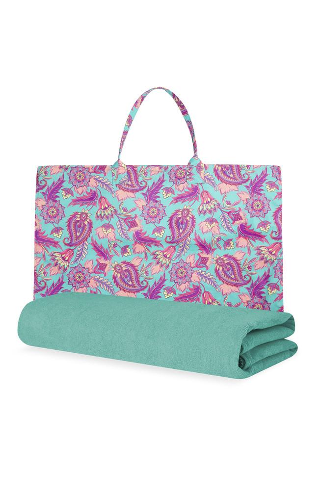 Kimball 7086602 Beach Towel Bag Paisley Turquoise 2c Grade Missing 2c Wk 25 2c Eur12 14 1