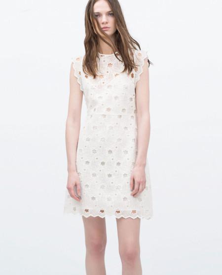 Vestido Zara Rebajas Guipur Estrellas