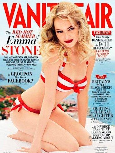 ¿Emma Stone siempre ha tenido esa cara del Vanity Fair?