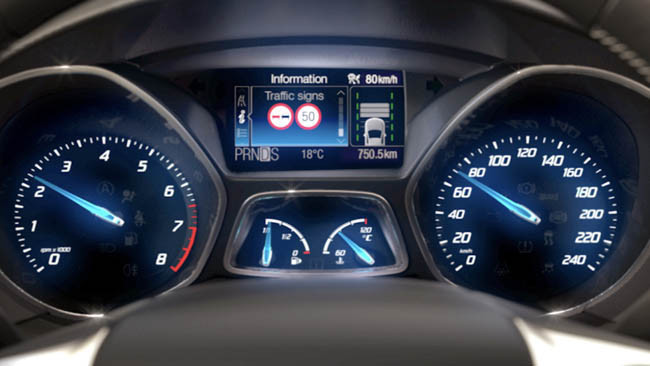 Panel de mandos del Ford Focus