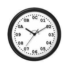 Reloj horas en hexadecimal
