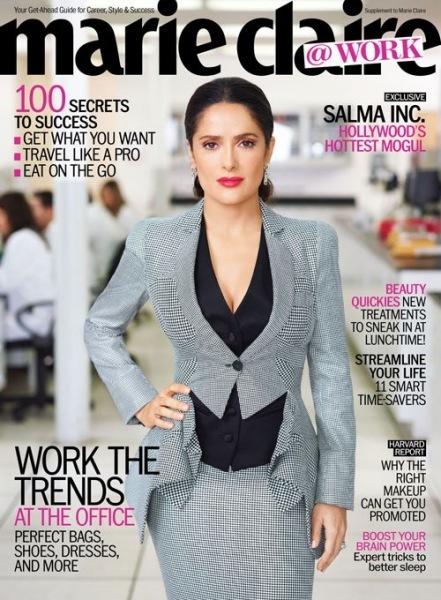 Para jefa sexy y curvilínea, Salma Hayek: ¡contigo sí que hacen horas extras!