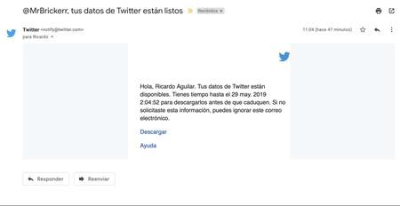 Correo Twitter