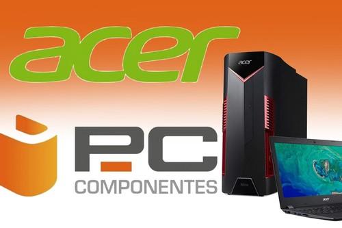 Ofertas en equipos Acer en PcComponentes: portátiles, sobremesa y monitores a precios rebajados