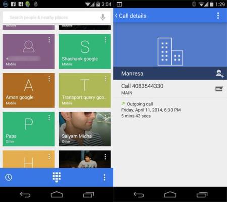 Filtrada una nueva captura del posible rediseño de la aplicación Teléfono de Android 4.4.3