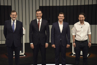 Elecciones 26J: Los candidatos repiten debate con la lección de estilo mejor aprendida
