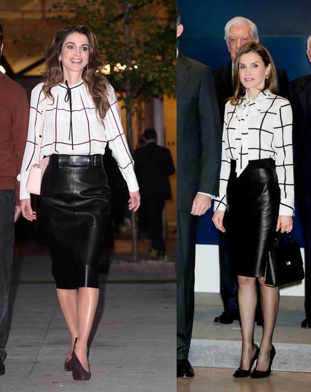 Look Letizia Y Rania De Jordania