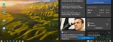Este es el nuevo feed del clima y noticias que estrena Windows 10: un devorador de recursos, por ahora sólo en el Programa Insider