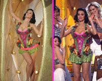 El modelito frutal de Katy Perry en los Grammy