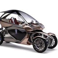 Ni coche, ni moto. El Yamaha MWC-4 es un prototipo futurista de cuatro ruedas que se inclina en las curvas