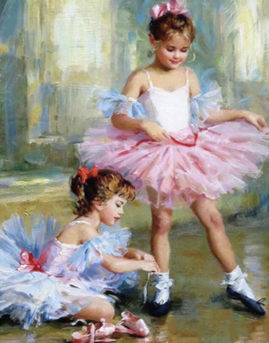 Pintura por números - bailarinas