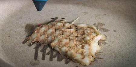 El futuro de la comida: pollo impreso en 3D cocinado con láser
