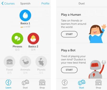 Duolingo actualiza su aplicación para aprender idiomas retando a nuestros amigos