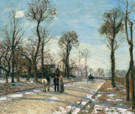 Camille Pissarro Camino De Versalles Louveciennes Sol De Invierno Y Nieve
