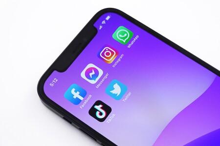 Iconos de distintas aplicaciones pertenecientes a Facebook