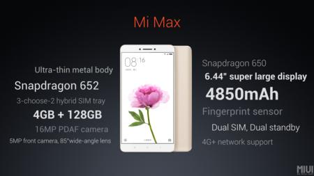 Xiaomi Mi Max Especificaciones