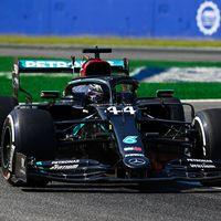 """Lewis Hamilton pasa del """"modo fiesta"""" y sigue dominando en Monza en una buena jornada para Carlos Sainz"""