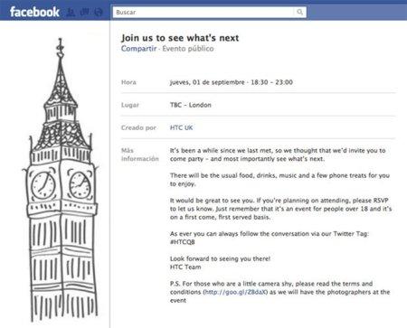 HTC realizará una presentación en Londres el próximo 1 de Septiembre