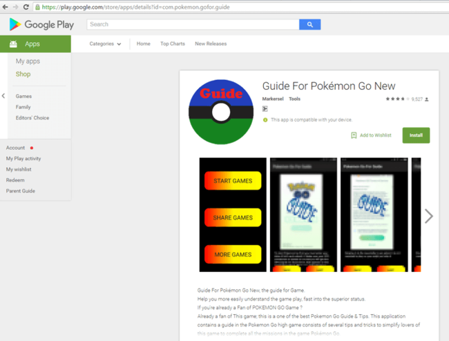 Guide for Pokémon Go malware