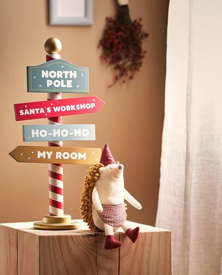 Adorno Senal Polo Norte Navidad