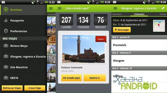 Tourist Eye: planificador de viajes