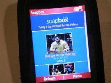MSN Soapbox versión móvil