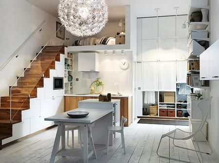 nuevas cocinas metod ikea composición escalera en decoesfera