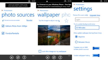 Photostream, cambia automáticamente los fondos de la pantalla de bloqueo en Windows Phone